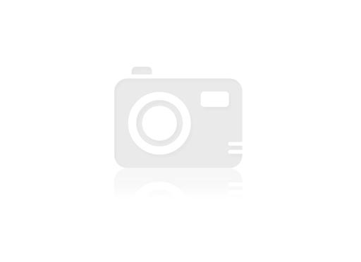Cawö dames badjas licht velours 3423/36 wit/beige gestreept met sjaalkraag