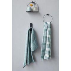 Beddinghouse Sheer Stripe handdoek katoen Groen