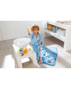 Egeria Teddy Bear baby kinderbadjas blauw met capuchon