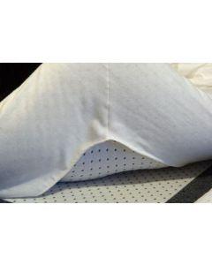 Dommelin molton topper hoeslaken hoek 10-14 cm met 1 split (maatwerk)