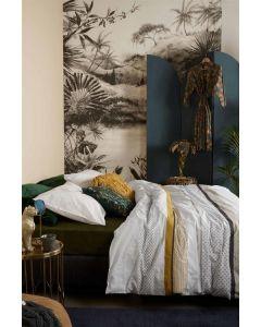 At Home by Beddinghouse Motifs Dekbedovertrek - Oker