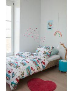 Beddinghouse Flamingo FLower kinderdekbedovertrek Roze