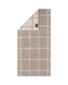Cawö Two-Tone Grafik badstof handdoeken 604.33 sand