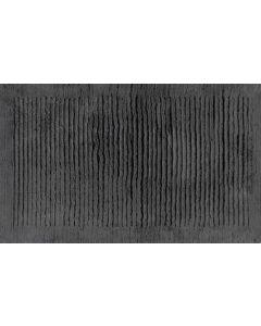 Cawö handgeweven katoenen badmat antraciet 1002/774