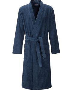 Egeria Adam velours heren badjas blauw