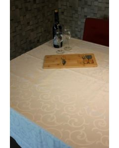 Lorax 15 damast tafelkleed wit met teflon