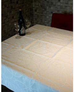 Lorax 16 damast tafelkleed wit met teflon