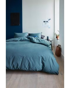 Beddinghouse Care dekbedovertrek Organic Basic Blauw Grijs (Duurzaam)