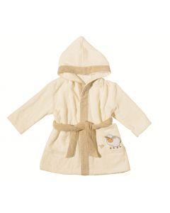 Egeria Sheep baby kinderbadjas Ivoor met capuchon