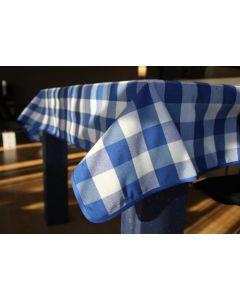 Vichy katoenen boerenbont tafellaken Blauw