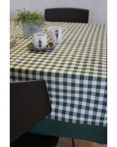 Vichy katoenen boerenbont tafellaken Groen klein