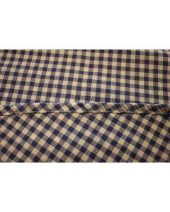 Vichy katoenen boerenbont tafellaken Blauw klein