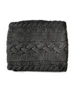Dommelin Knitted handgebreide plaid antraciet